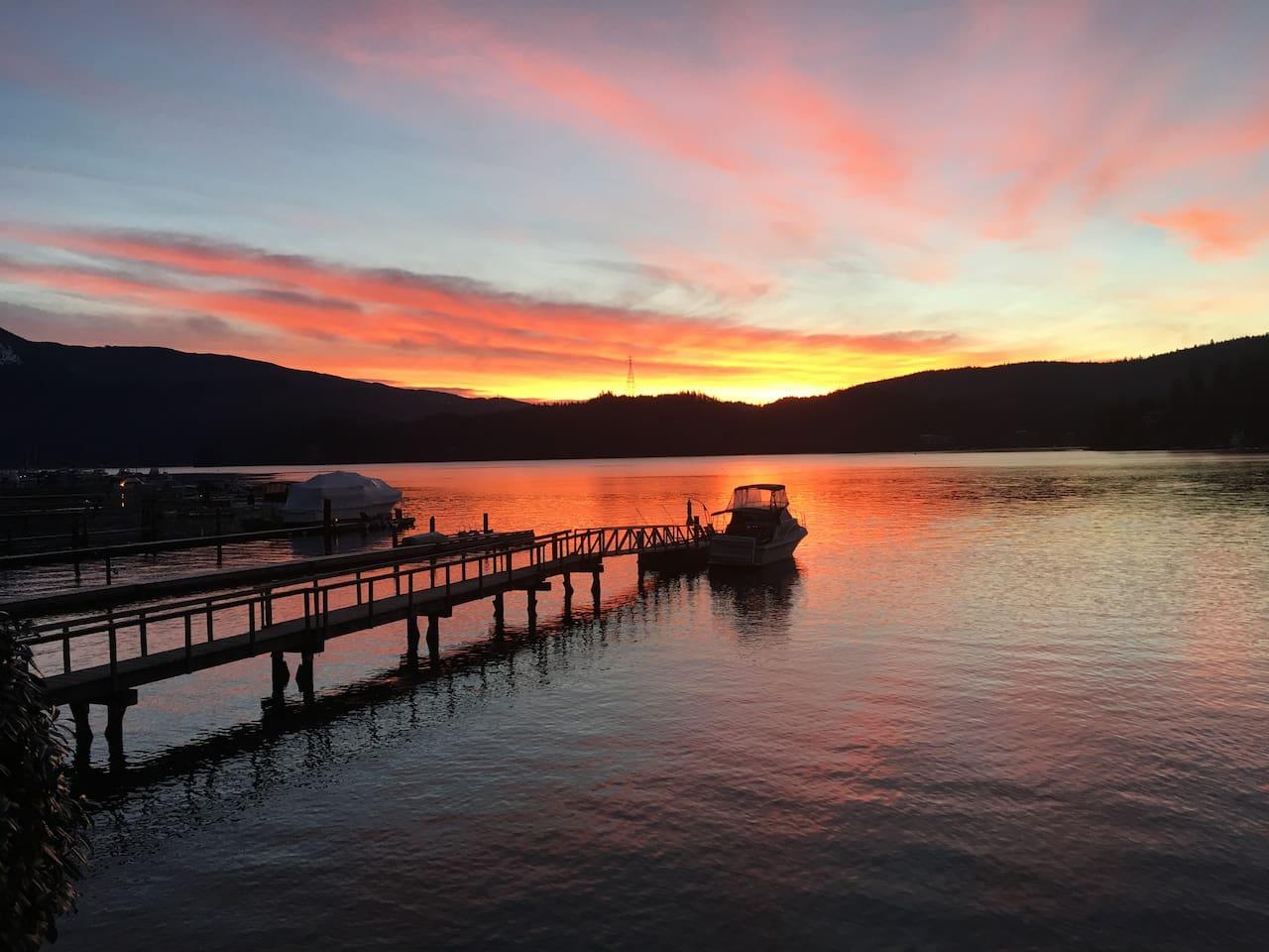 Sunrise over Deep Cove