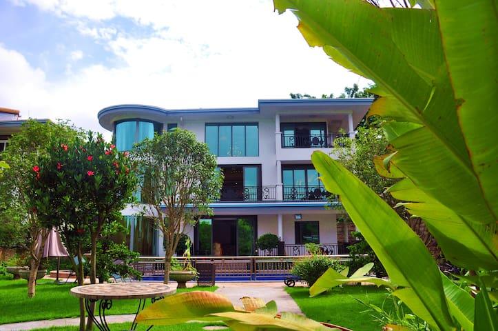 美林湖豪华独栋别墅带泳池KTV美式台球含早 - Guangzhou