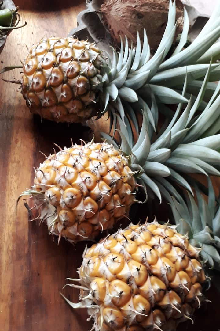 Organic pineapples from the farm
