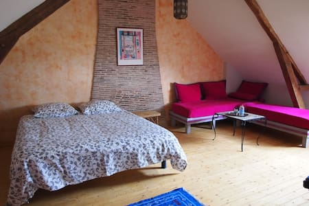 chambre spacieuse dans maison à la campagne - Anetz