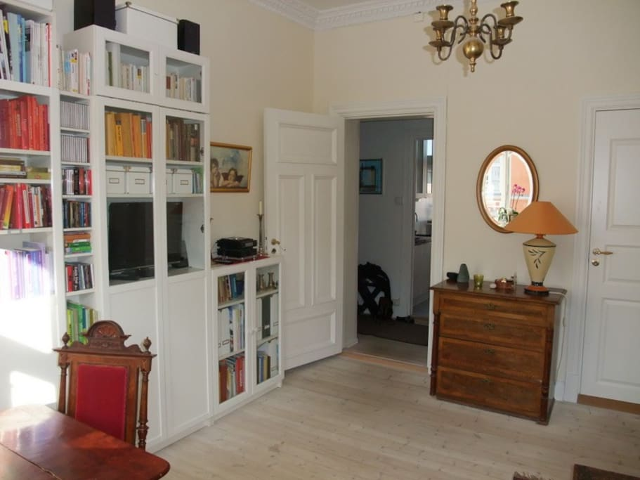 view towards hallway and kitchen from the living room
