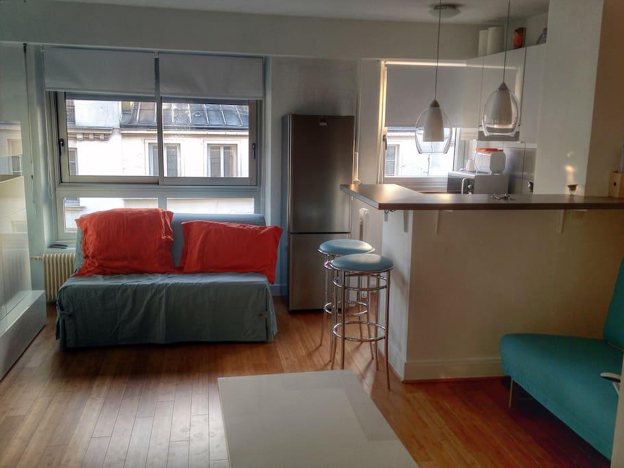 Une vue d'ensemble de l'appartement