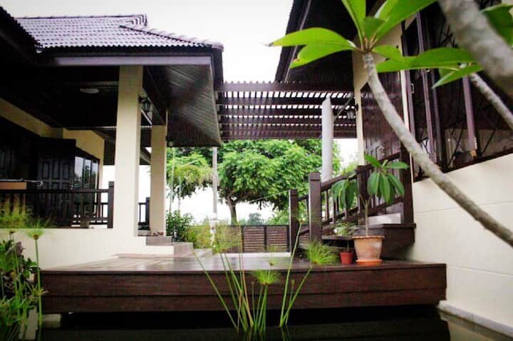 Balinese house style resort