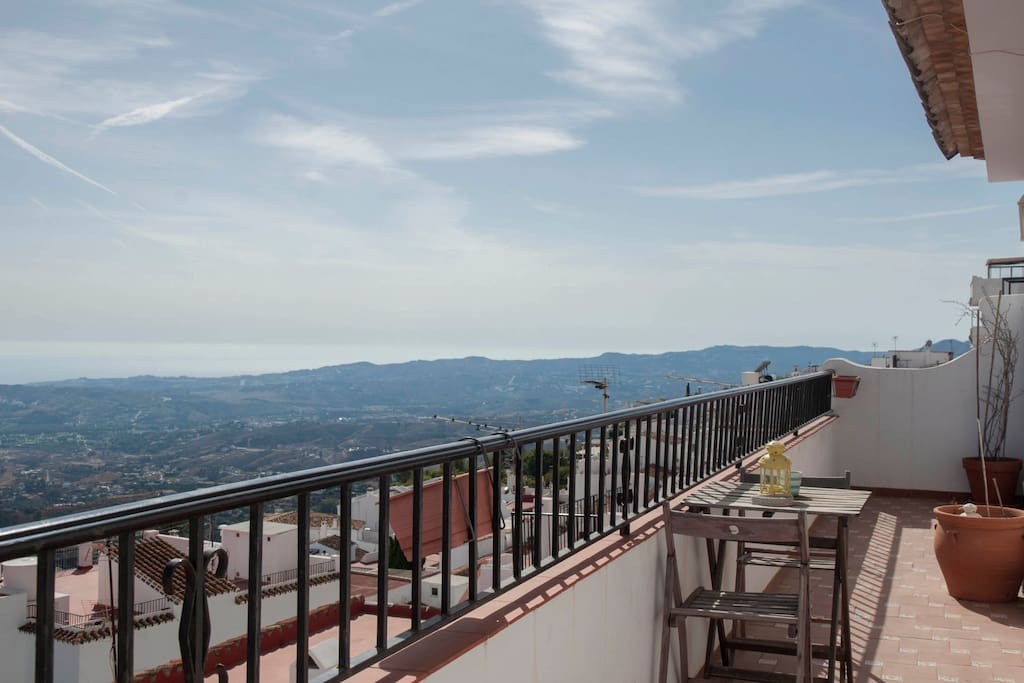 Terraza privada con vistas