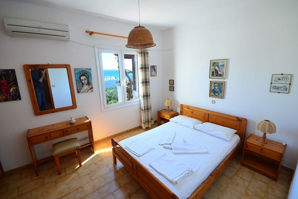 Interior view of the adults' bedroom of the two-bedroom apartment (50m2)