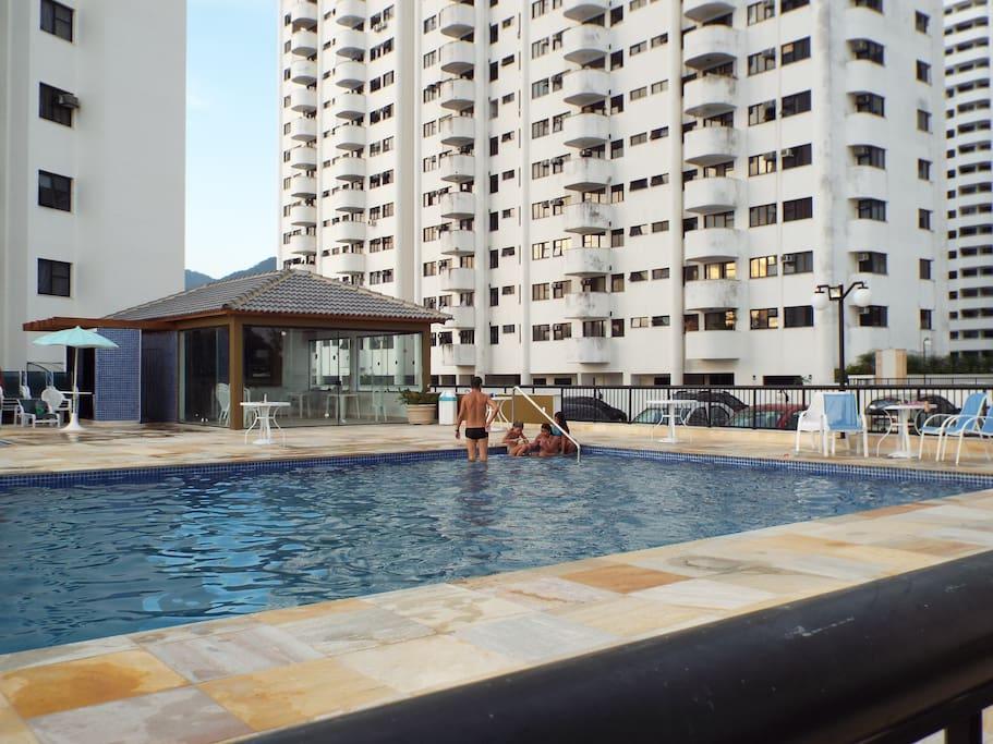 Vista das piscinas