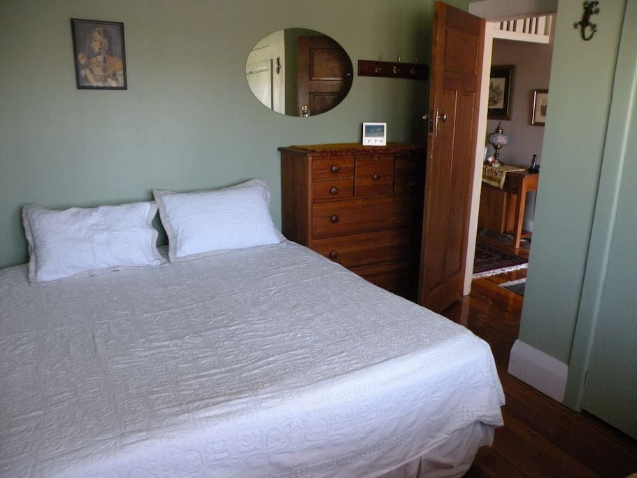 Bedroom with super king bed which may be converted to 2 x king singles