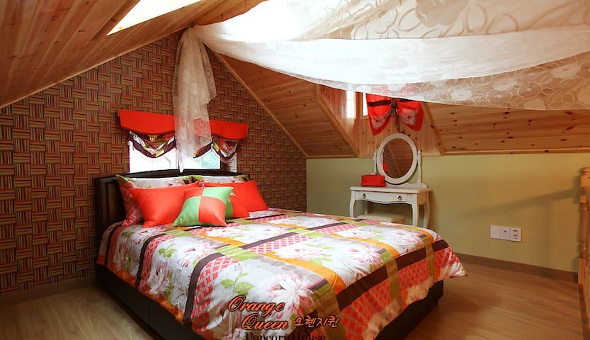 Orange Queen room with Jet Spa!