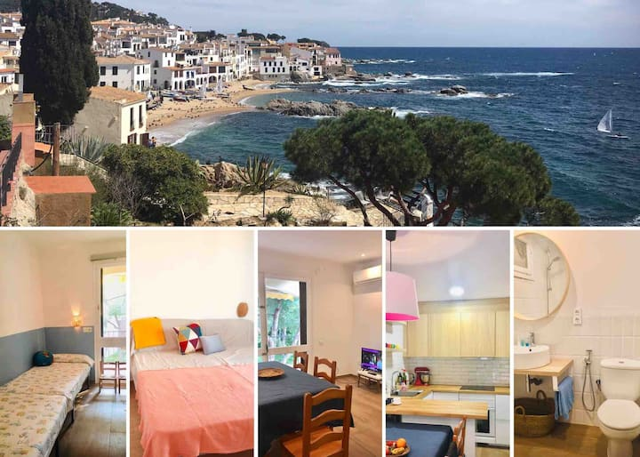 Calella de Palafrugell just 2min to the beach/5pax
