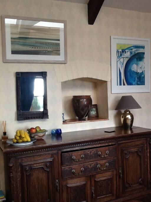Reception room - breakfast sideboard