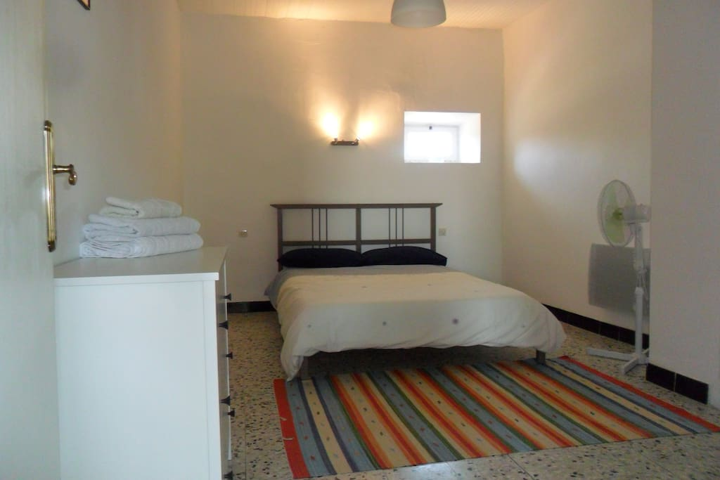 Double bedroom with plenty of room. Ideal for a couple or older children.
