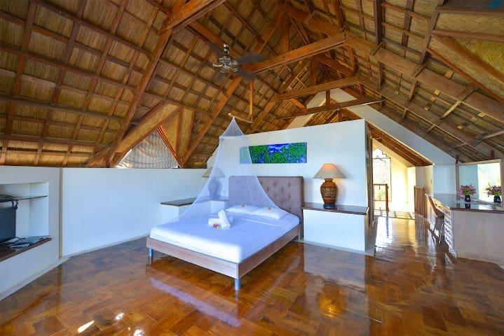 Master bedroom in attic