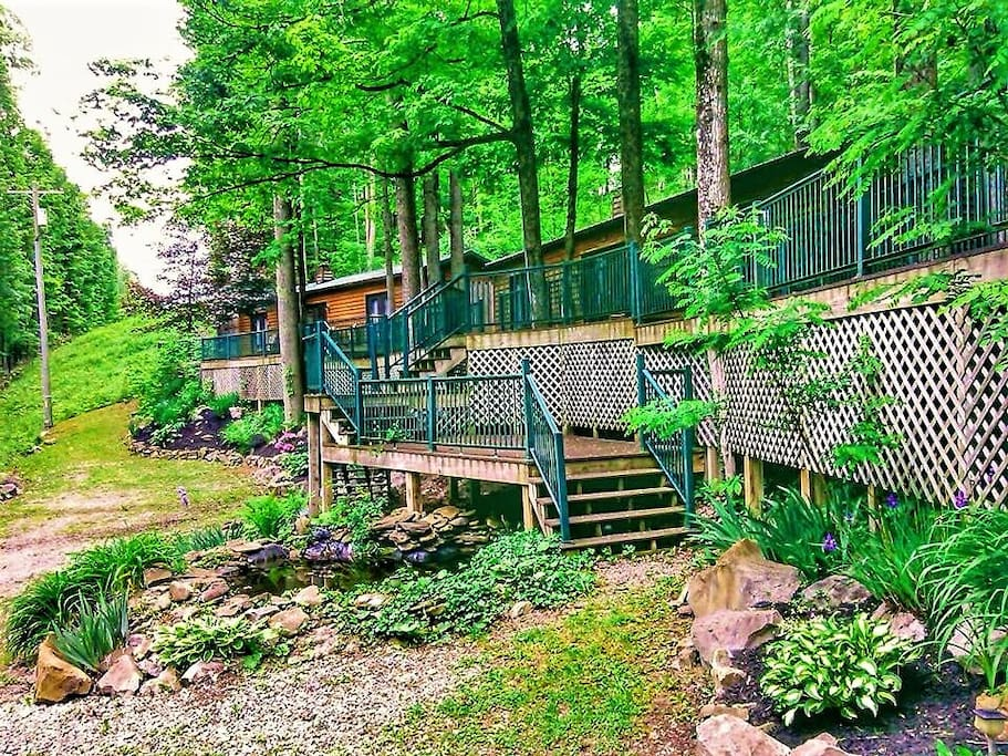 Cabins of Kelly Mountain, located 5 min outside of Elkins, WV.  Great for family reunions, business retreats, or romantic getaway.