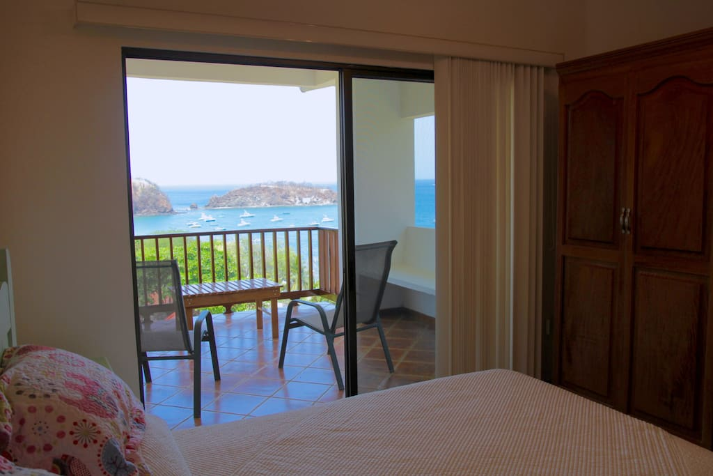 Enjoy spectacular views from your bed