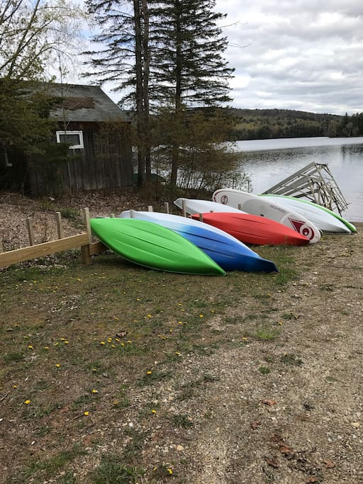 Two kayaks available for renters