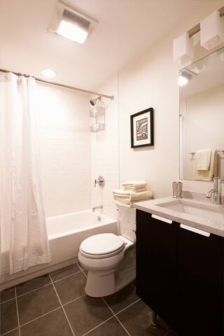 Brand New Bathroom with Tub.