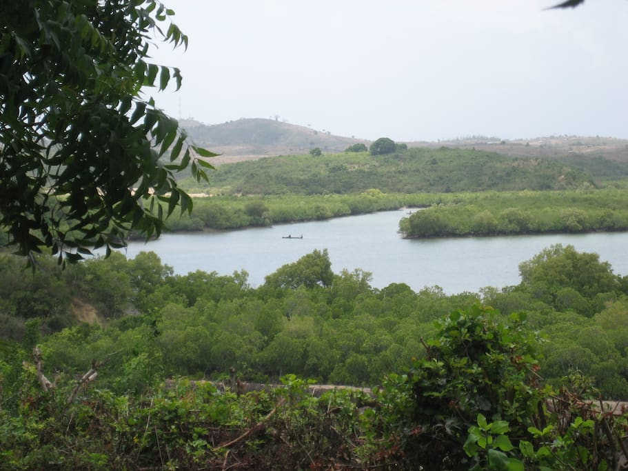 view from the house over Mtwapa Creek