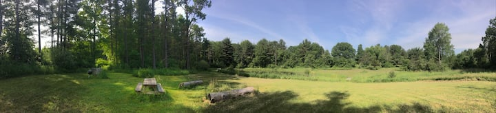 Foxtail Farm Stay: Pond Camping Site