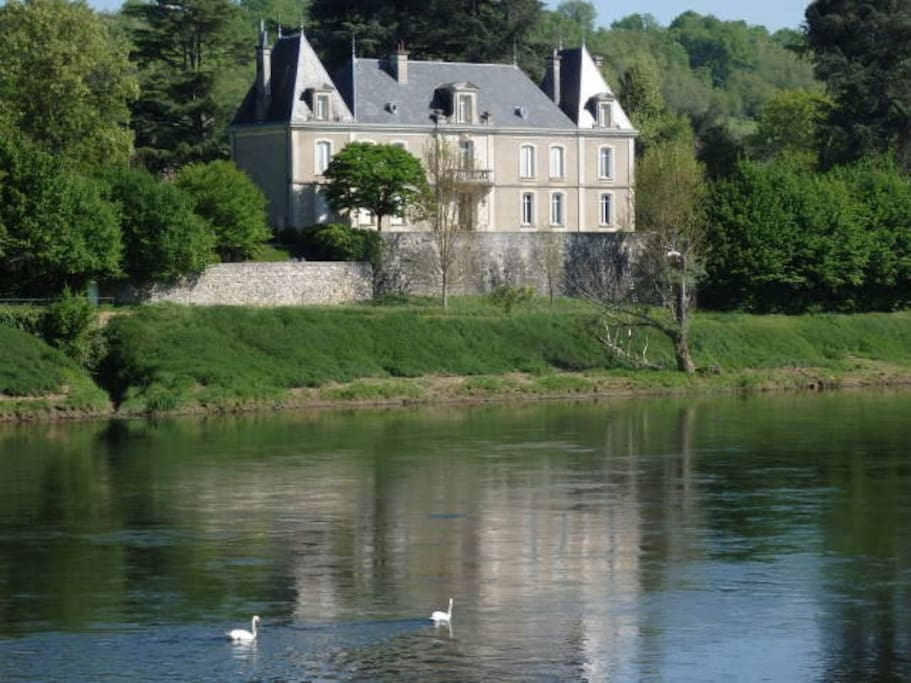 One of the beautiful houses on the Dordogne River near Ste Foy La Grande.