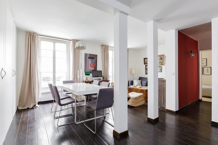 Cozy loft-1 bedrooms in Batignolles
