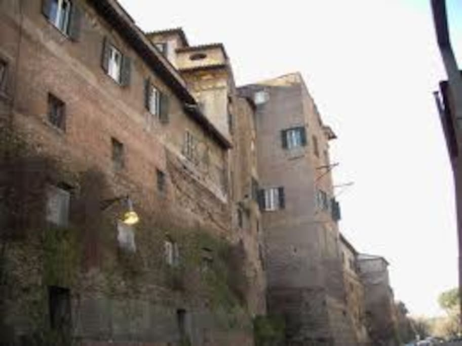 Back windows inside the Aurelian Walls