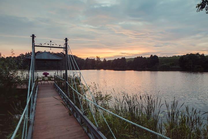 U Zuzanny - dom z jeziorem w Borach Tucholskich