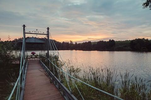 U Zuzanny - una casa con un lago en los bosques de Tuchola