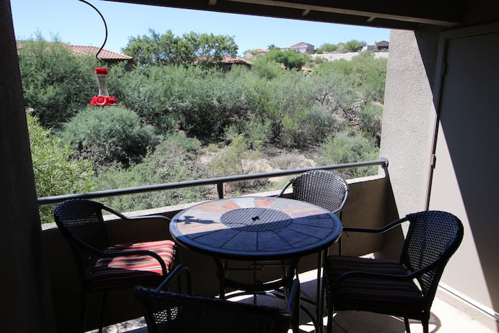 Newly furnished -Southwest Flair 2 bedrm 2nd floor with serene private patio!