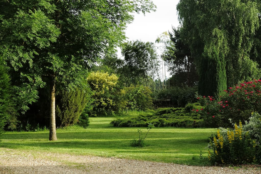 Peaceful landscaped gardens