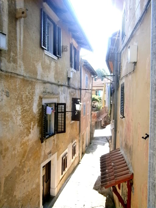 Our lovely street in the heart of the Old town Lovran