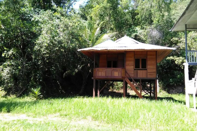 La casa vista di fianco