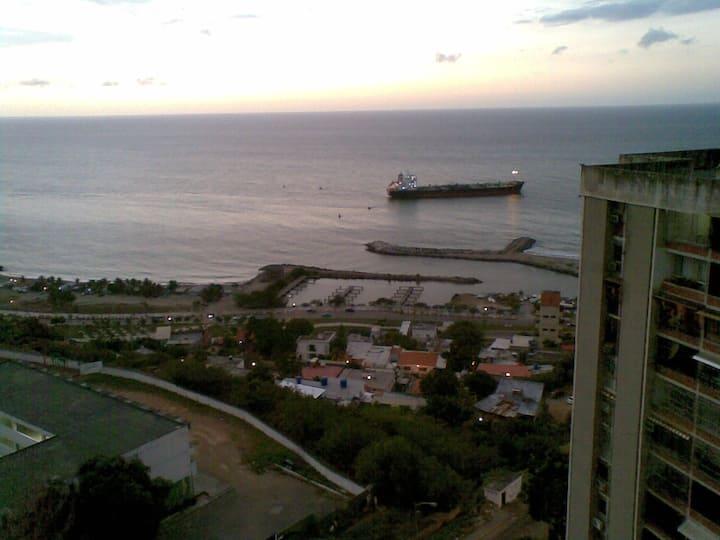 Habitacion con hermosa vista al Mar Caribe.