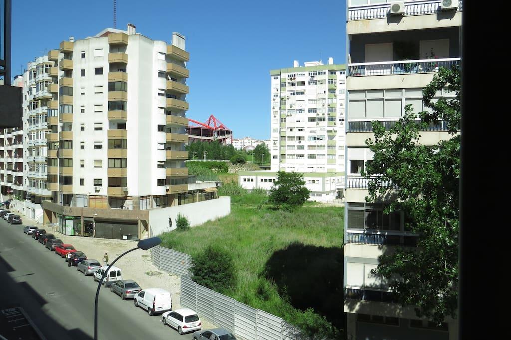 Sala com vista para Estádio da Luz