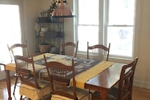 Our dining room is available as needed