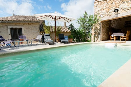House, view & Pool, near Avignon - Saint-Victor-la-Coste - Haus
