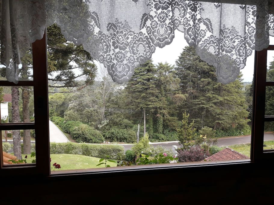 Vista da janela sala de jogos, 3°andar