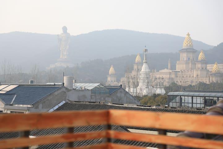 不止是身与心的解放,更是心灵的栖息--灵山大佛景区精品酒店子鱼居-特价大床房