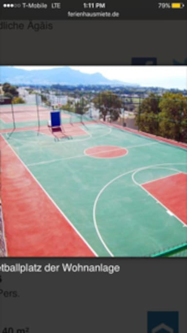 tennis& basketball courts