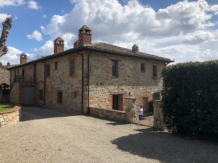 A small Umbrian house, with its own walled garden