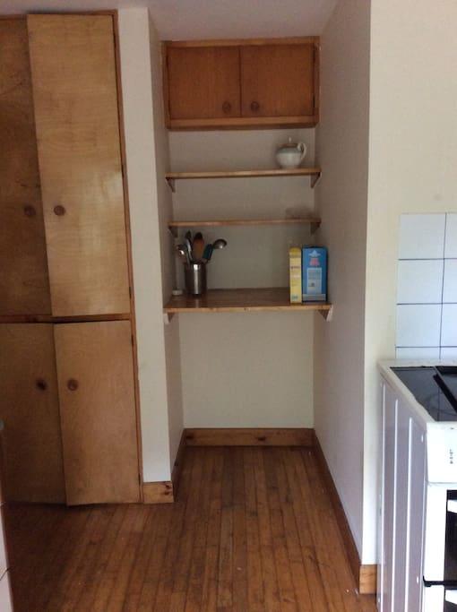Spacious kitchen storage