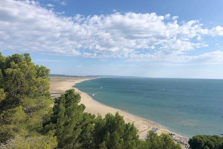 Maison à leucate-Plage vue mer et montagne