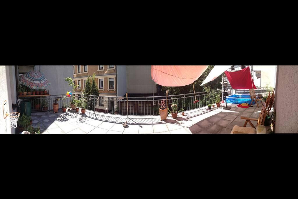 40 m2 balcony :D Calm and sunny