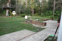 Big back yard to play in. Tree fort isn't there anymore.