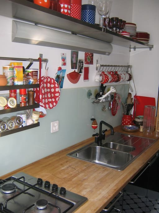 kitchen - yes, im crazy about polkadots :)
