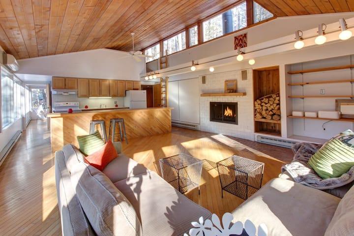 Stream-Side Mid-Century Loft Home