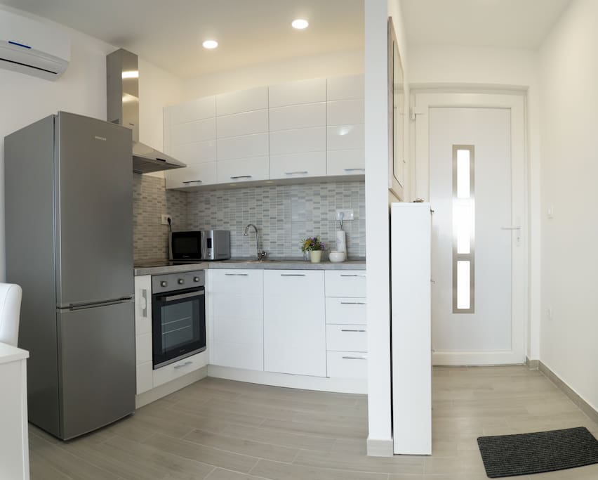 Modern Kitchen with Microwave