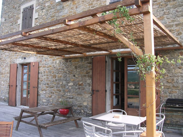 Ardeche house; 5 min from Valence