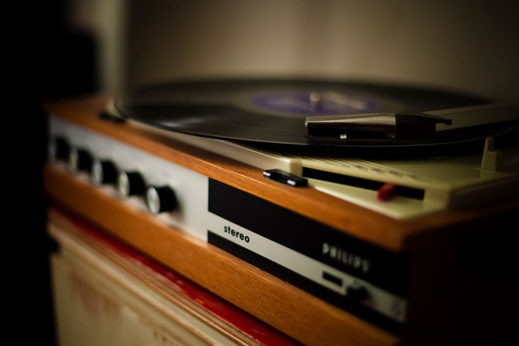 play some tunes on the classic turntable