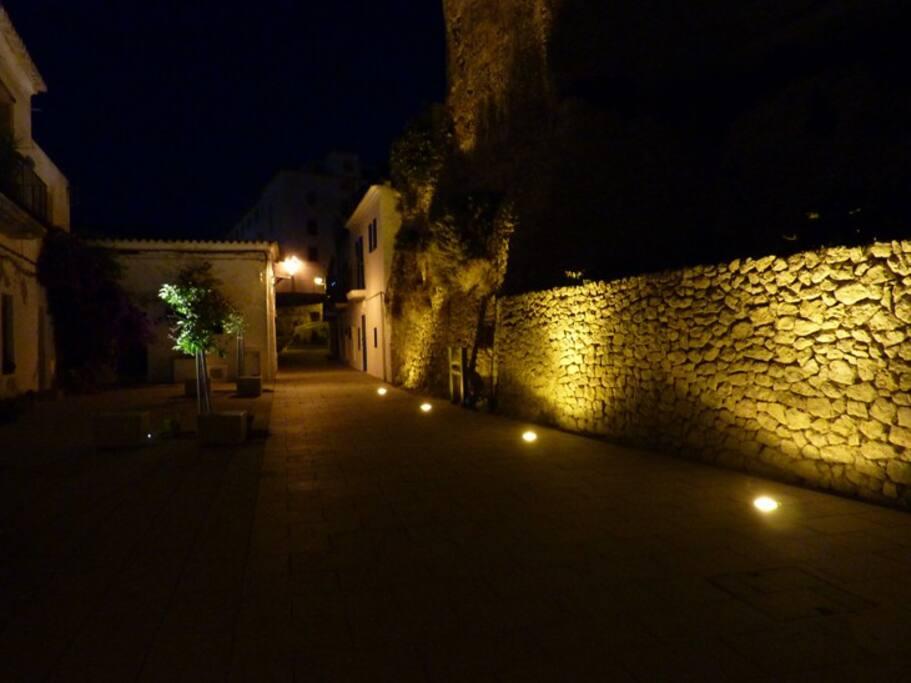 Casa Nueve at night