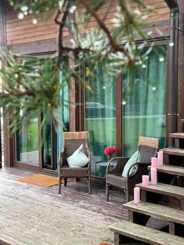Piparmētru istaba pie jūras ar Saunu un terasi